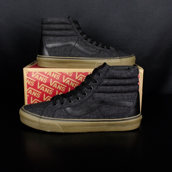 9f17bb47cef4da Vans Denim CL Black Gum Sk8-Hi Reissue